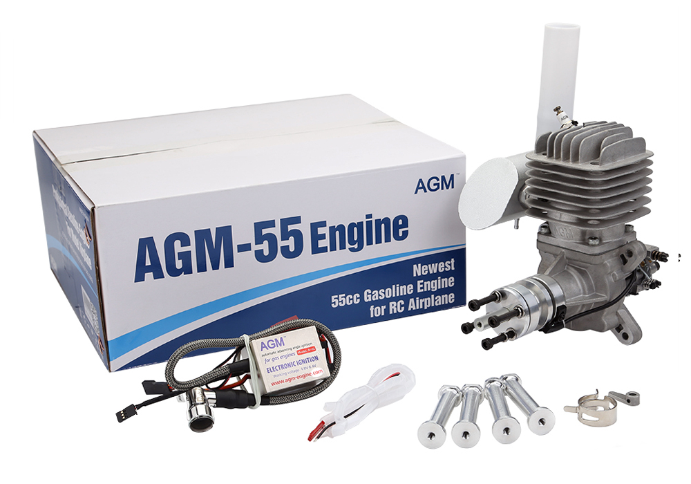 New AGM 55 RC Plane Aircraft & Muffler Gasoline Engine
