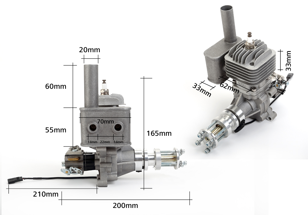 AGM-30cc gasoline engine dimensions