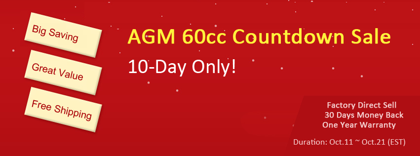 AGM-60 10-Day Countdown Sale