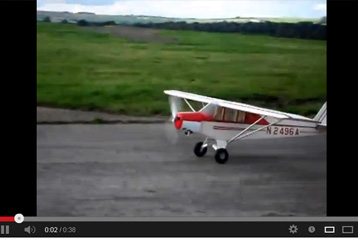 Super Cub First Flights with AGM 30cc Gas Engine