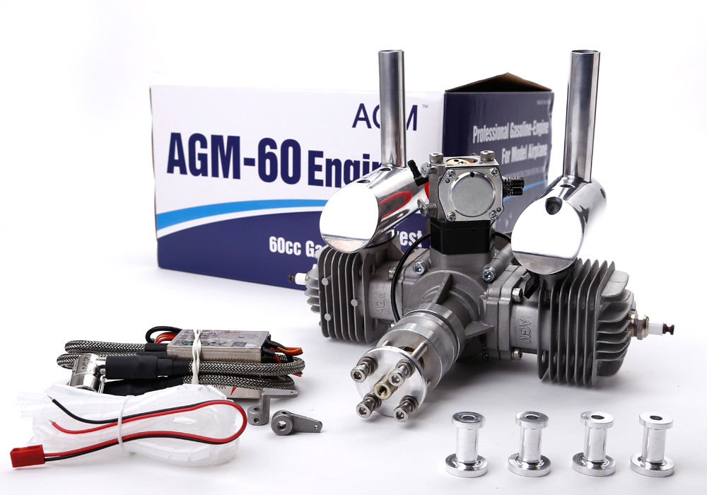 AGM-60/60cc twin cylinder gas engine